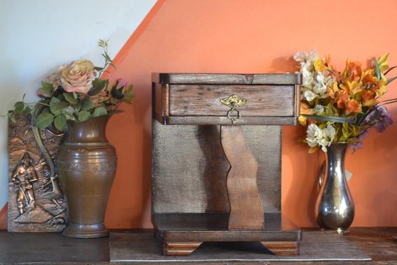 Criado Mudo Rack Madeira C/gaveta Art Decoração Antigo
