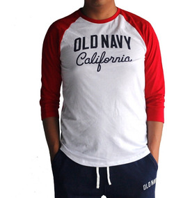 Playera Hombre Manga 3/4 En Color Contraste Old Navy