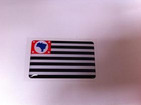 Adesivo Resinado Da Bandeira Do Estado São Paulo 5cm Por 3cm