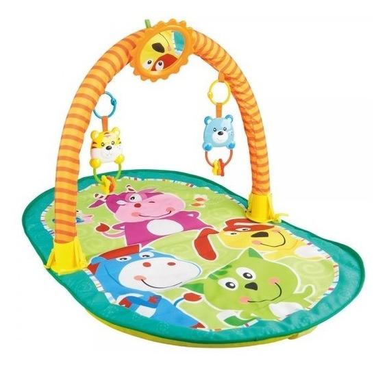 Tapete Atividades Interativo Bebê Acolchoado Zoo Ginástica