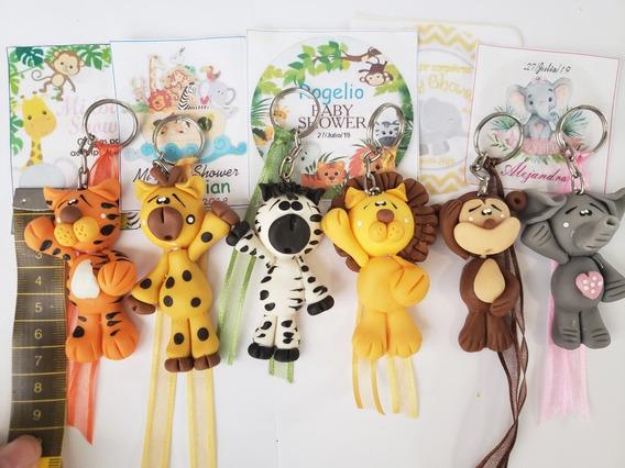 Recuerdos Baby Shower Llaveros Animalitos De La Jungla