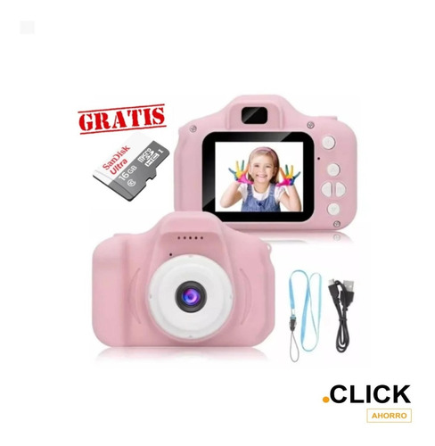 Mini Cámara Fotográfica Infantil Digital Portatil+tarjeta Sd