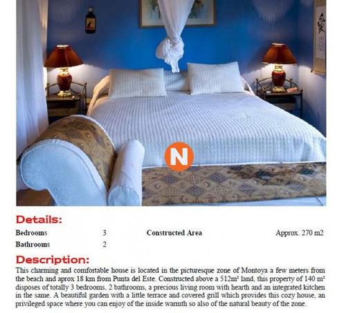 Casa En Venta, Montoya, La Barra, 3 Dormitorios.- Ref: 207974