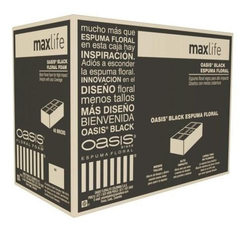 Oasis® Espuma Floral Maxlife Black X 48 Bloques