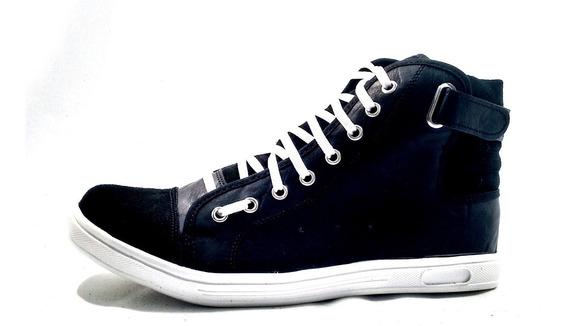 Mal018 Zapatillas Talles Grandes Negras Botitas