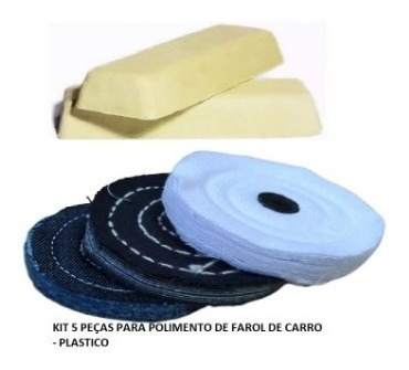 Kit Polimento De Farol De Carro - Plastico