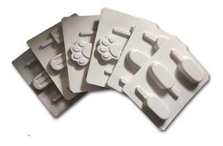 Moldes De Plástico Para Helados De Paleta 6 Bandejas