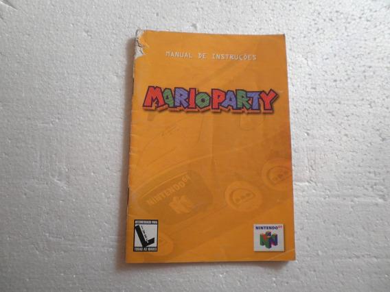 Manual Mario Party Original Gradiente!