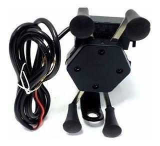 Suporte Garra Para Celular Moto Univer Carregador Usb + Capa