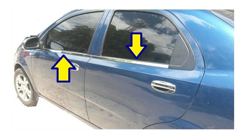Accesorios Lamevidrios Cromados Chevrolet Aveo Sedan-emotion