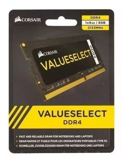 Memoria Notebook Ddr4 8gb 2133 Corsair - 2111 C/ Nf