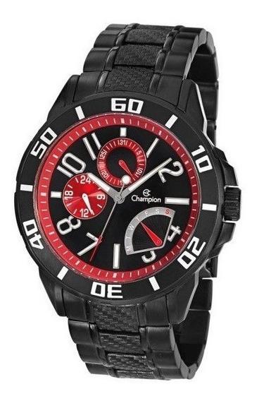 Relógio Champion Masculino Aço Inoxidável Preto - Ca30909