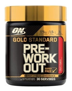 Pré-treino Optimum Nutrition Gold Standard 300g 06/21