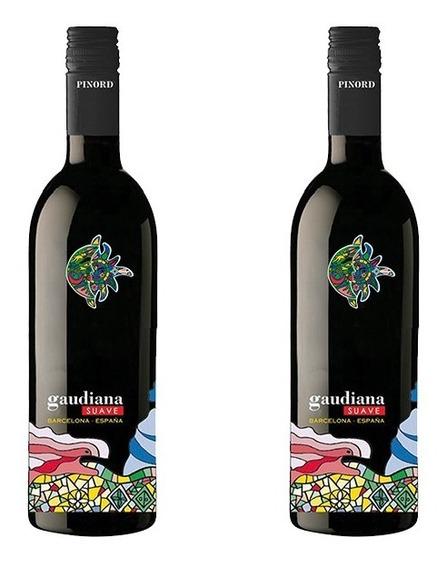 Vino Tinto Suave Gaudiana Penedes Merlot 2 Botella Especial