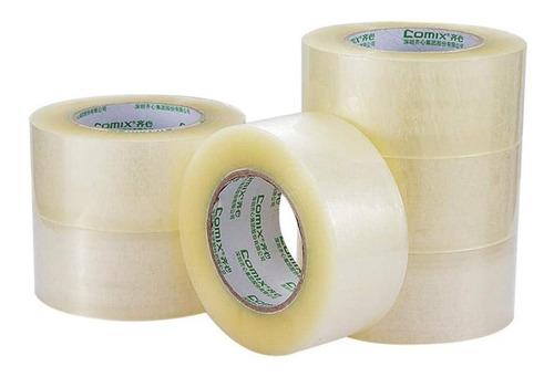 Cinta Adhesiva De Empaque Ancha Transparente Pack X 6 Unid.
