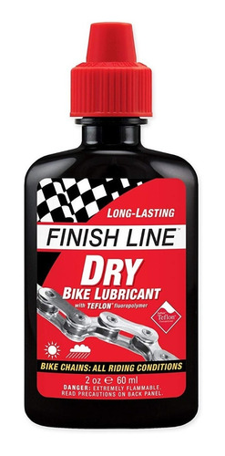Imagen 1 de 4 de Aceite Lubricante Finish Line Seco 4oz (120ml) - Racer Bikes