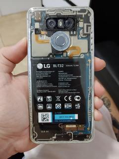 LG G6 Customizado Glass Back Traseira De Vidro Único
