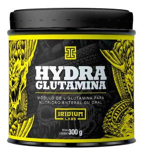Hydra L- Glutamina Aminoácido 300g Iridium Labs + Nf
