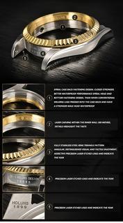 Reloj Holuns Rolex Datejust Mecanico Lujo Oro