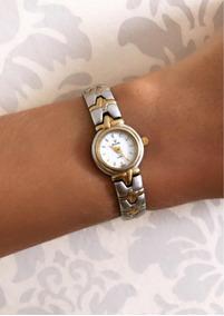 Relógio Bulova Suíço Original Modelo 6024 Prata E Dourado