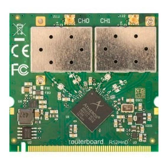Puerto Red Wifi Minipci Mikrotik A/b/g/n 400m - R52h