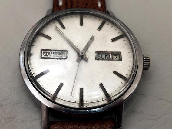 Relógio Mecânico Tissot Swiss Vintage Automático 36mm Funcionando