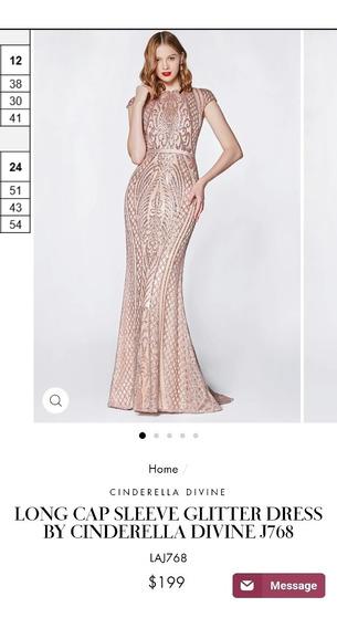 Vestido De Fiesta, De Gala, De Noche, Cinderella Divine J768