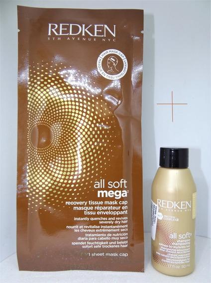 Redken All Soft Mega Recovery Tissue Máscara 10ml+shamp 50ml