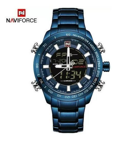 Relógio Masculino Militar Esportivo Naviforce Original