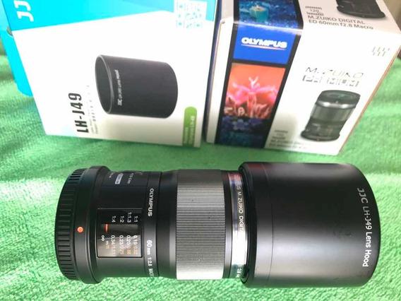 Lente Olympus M-zuiko 60mm F2.8 Macro Para Micro4/3 + Extras