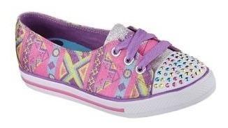Zapatos Skechers Originales Con Luces Talla 1 Usa 32 Vzla