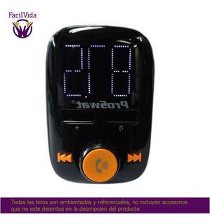 Transmisor Fm Bluetooth, Usb Para Carro Proswat Pro-60 Fac