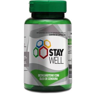 Beta Caroteno Com Oleo De Cenoura - Stay Well - 60 Cápsulas