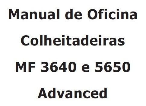 Imagem 1 de 3 de Manual De Serviço Massey Ferguson 3640 E 5650 Advanced
