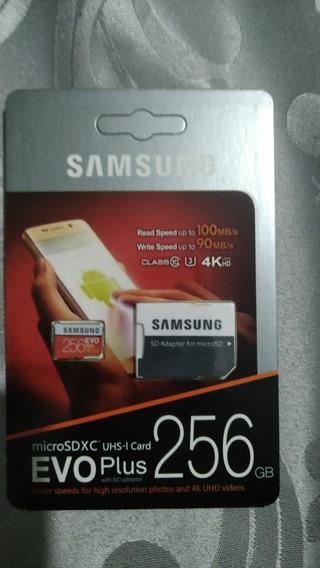 Cartão De Memória Samsung Evo Plus 256gb Micro Sd
