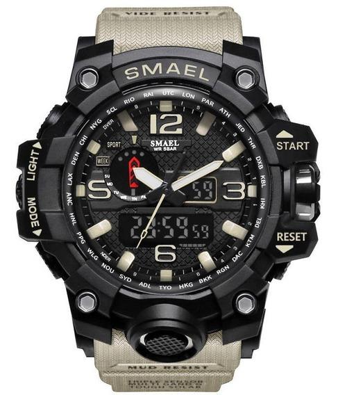 Relógio Masculino Militar Preto S-shock Smael Prova D