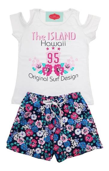 Kit 4 Conjunto Infantil Juvenil Menina Roupa Feminina Verão