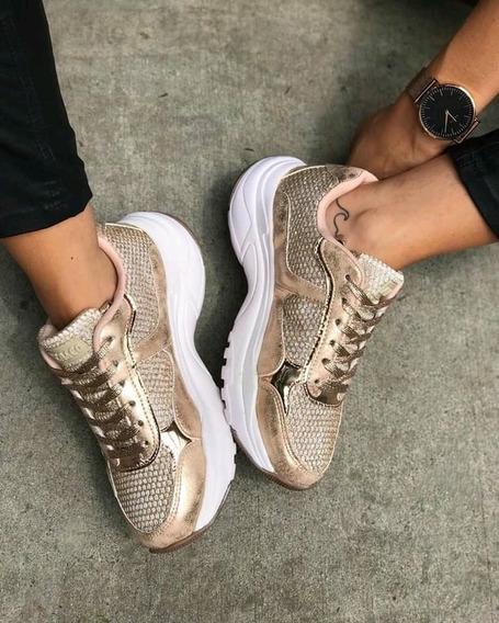 Zapatilla Anca & Co Brisa Brillo Inv2020 Scarpanno Zapatos