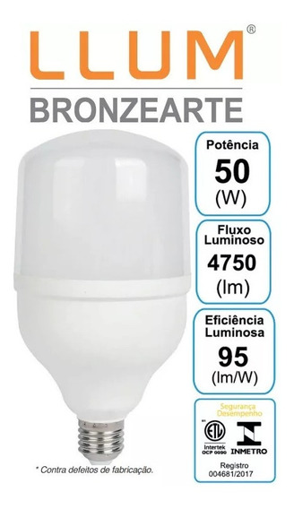 Lampada Ultra Led Bulbo 50w Alta Potencia E27 Garantia 2anos