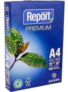 500 Folhas Papel Sulfite A4 75g Reporter Resma