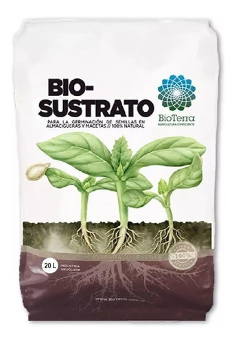 Imagen 1 de 3 de Bio Sustrato Orgánico Bolsa 7 Litros Bioterra Almacigueras