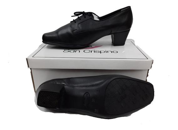 Zapatos Dama Con Cordones Con Taco Rialto Uniforme Policial