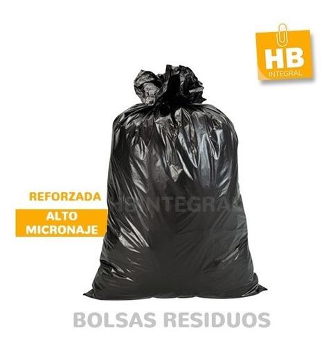 Imagen 1 de 5 de 100 Bolsas Consorcio Negra Residuos Muy Resistentes 90x120