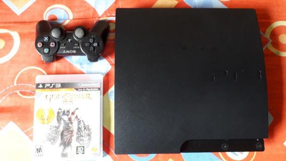 Playstation 3 Slim 500gb + 1 Controle + 6 Jogos