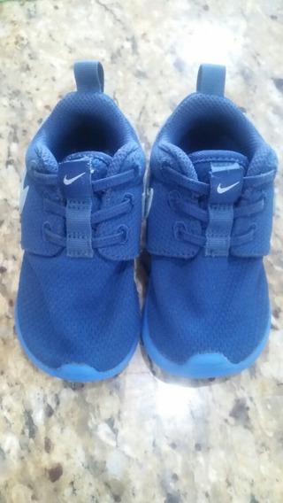 Zapatos Nike Niños Azul Usados 11cm