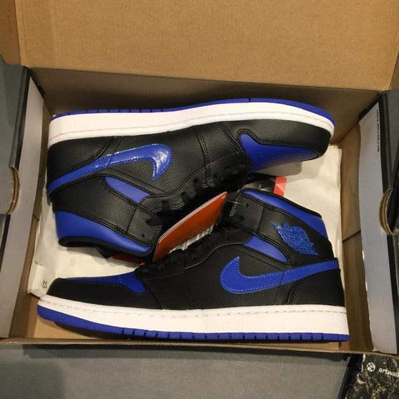 Tênis Nike Air Jordan 1 Mid Royal Blue Novo E Com Nota