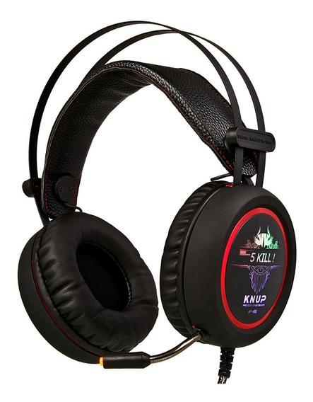 Fone Ouvido Gamer Com Microfone Headset Usb Led Light Knup