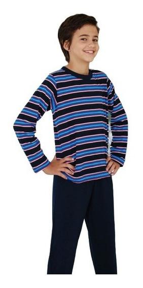 Pijama Niño 100% Algodon - Remera Y Pantalon Chupin