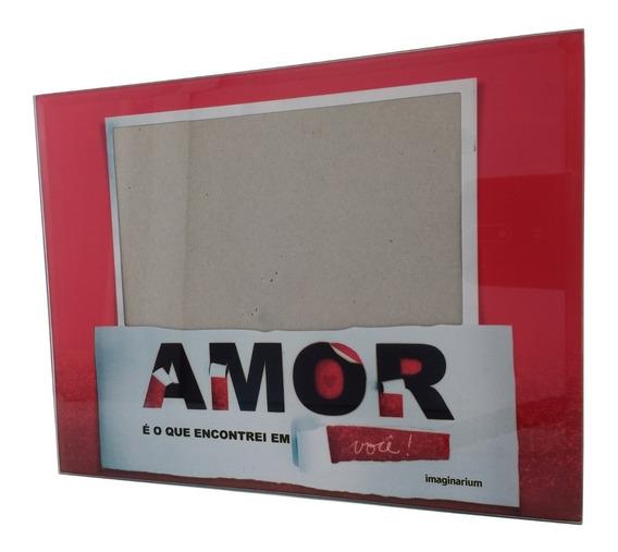 Porta Retrato Quadro Fotos Amor Imaginarium Namorado 22x17cm