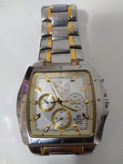 Ef-329sg-7a Relógio Casio Edifice Quadrado Aço